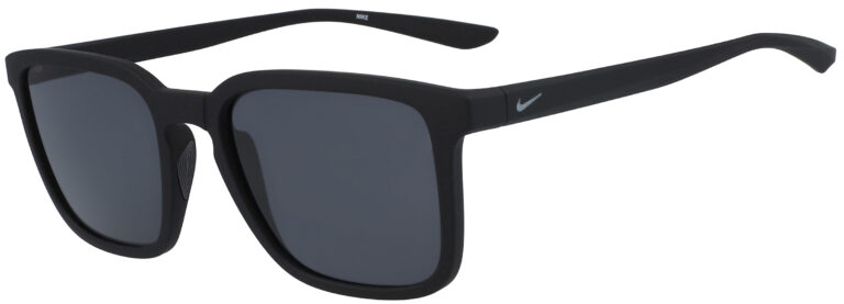 Nike Circuit in Matte Black Frame with Dark Grey Lens, Angled to the Side Left
