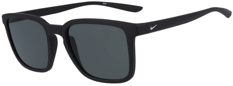 Nike Circuit in Matte Black Frame with Polarized Grey Lens, Angled to the Side Left