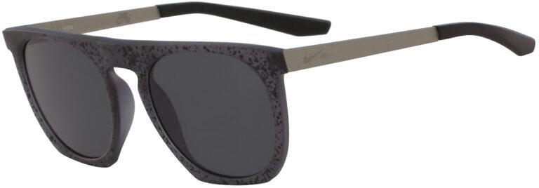 Nike Flatspot SE in Black Grit Frame with Black Mirror Lens, Angled to the Side Left