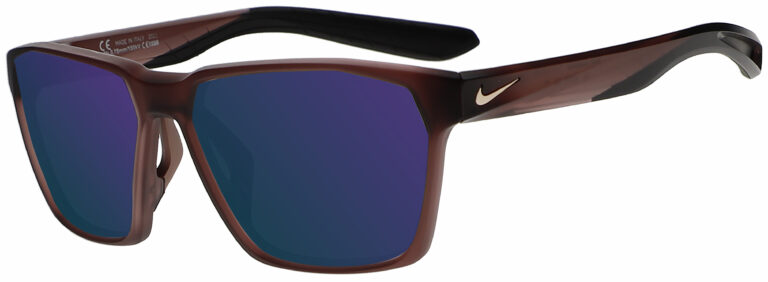 Nike Maverick in Matte Smokey Mauve Frame with Course Milk Mirror Lens, Angled Side Left