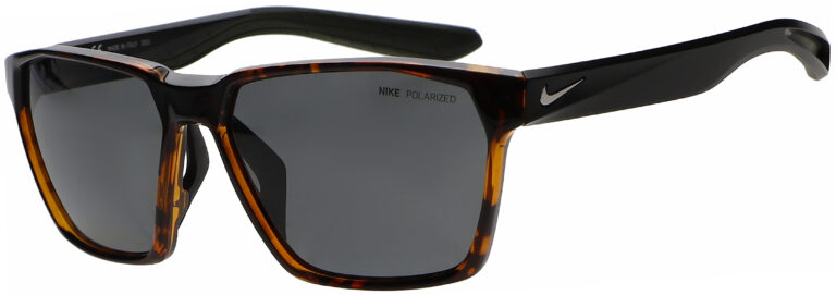 Nike Maverick in Soft Tortoise Frame with Grey Polarized Lens, Angled to the Side Left