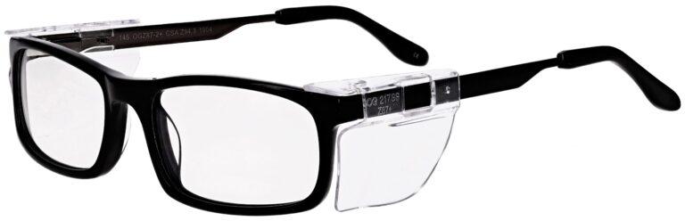 OnGuard Model OG-144 Prescription Safety Glasses in Black OG-108-BK