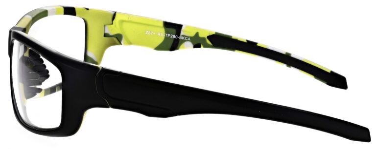 Prescription Wraparound Safety Glasses Model RX-TP280-BKCA in Black/Camo