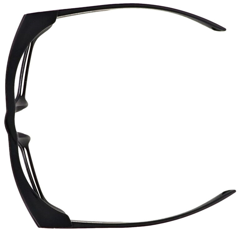 Model Torque RX-X25 Safety Reading Glasses, in Black Frame, Clear Lenses, Up