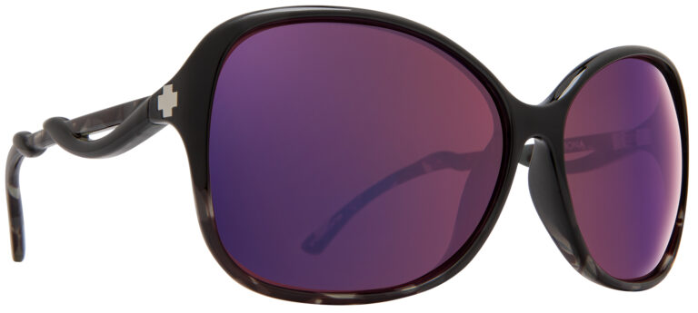 Spy Fiona Prescription Sunglasses in Black Smoke Tort SPY-FIONA-BKST