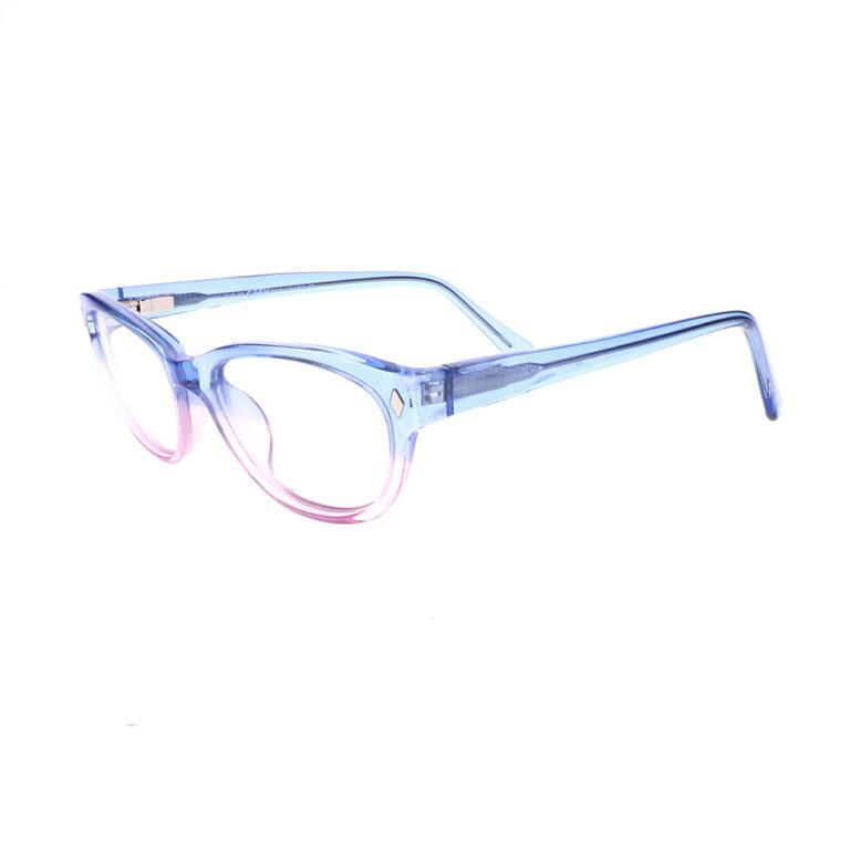 Geek Cat02 Eyeglasses in Blue/Blush LBI-GK-CAT02-BB