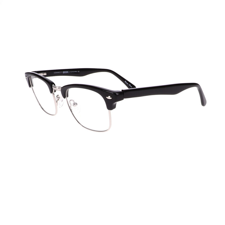 Geek Connect Eyeglasses in Black/Silver LBI-GK-CONNECT-BKS