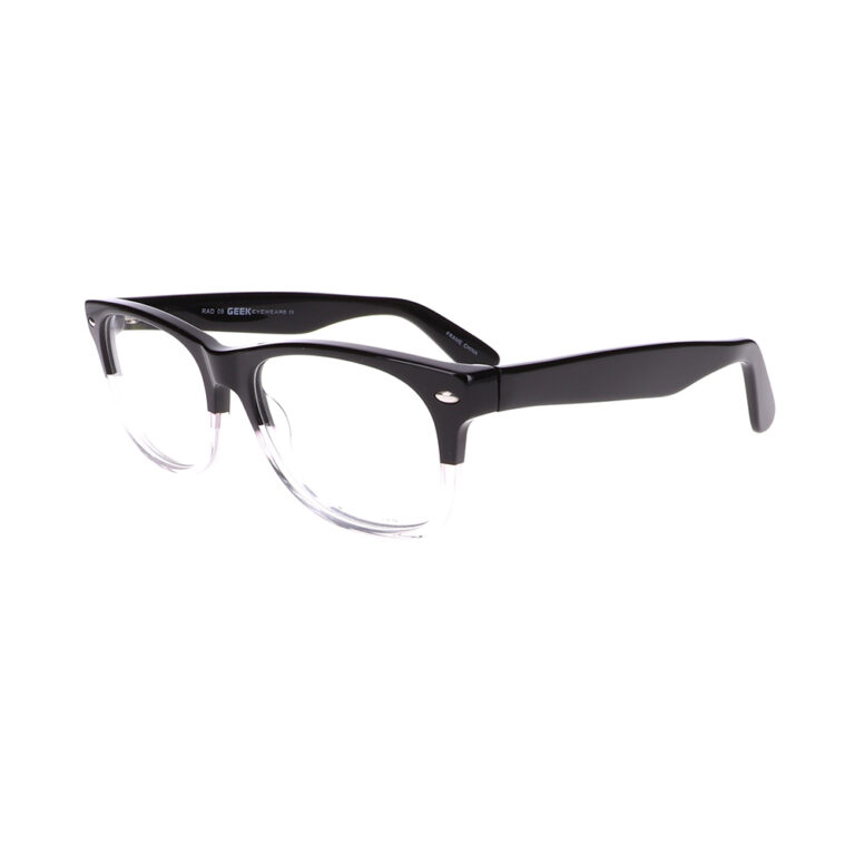Geek Rad09 Eyeglasses in Black/Crystal LBI-GK-RAD09-BKC