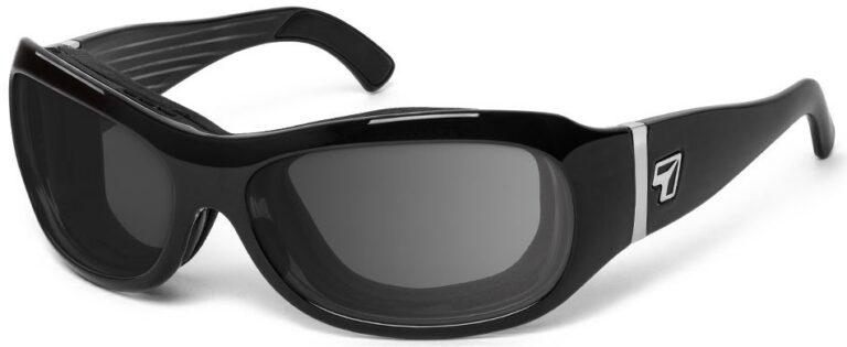 7 Eye Briza Glossy Black Gray Lenses Prescription Sunglasses RX Safety