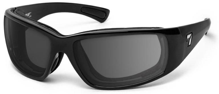 7 Eye Taku Plus Glossy Black Gray Lenses Prescription Sunglasses RX Safety
