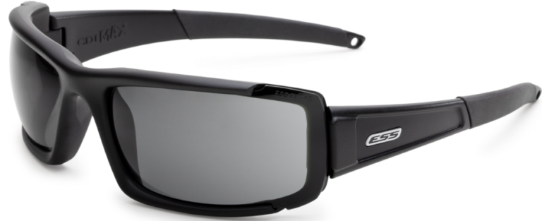 ESS CDI Max Ballistic Sunglasses - Black Frame with Clear and Smoke Gray Lenses