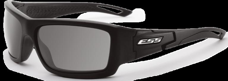 ESS Credence Ballistic Sunglasses - Black Silver Logo/Smoke Gray Lenses