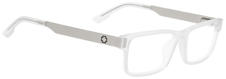 Spy Hale Eyeglasses in Matte Clear/Matte Silver
