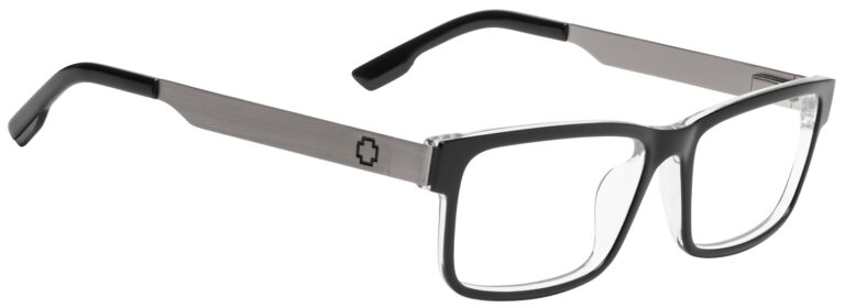 Spy Hale Eyeglasses in Black/Clear/Gunmetal