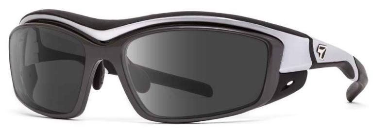 7 Eye Rocker Matte Silver Polarized Gray Lenses Prescription Sunglasses RX Safety