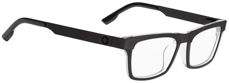 Spy Zade Eyeglasses in Black/Clear/Matte Black