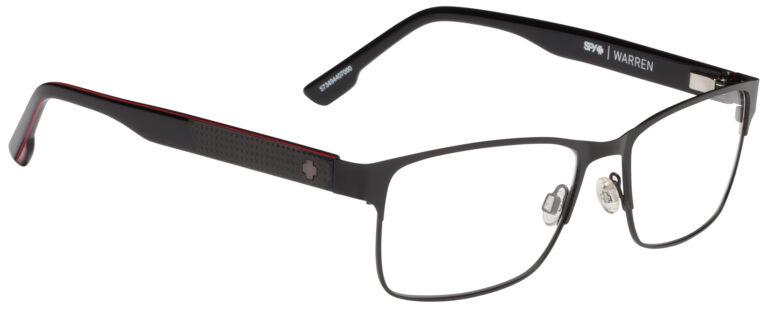 Spy Warren Eyeglasses in Matte Black/Red
