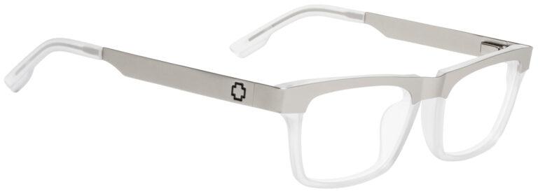 Spy Zade Eyeglasses in Matte Silver/Matte Clear