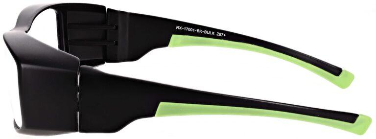 Model RX-17001-BK safety glasses in Black RX-17001-BK