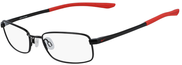 Nike 4640 007 Black University Red Frame Black University Red Lens Angled Side Left