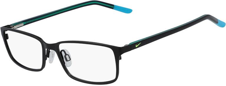 Nike 5580 018 Satin Black Teal Nebula Frame Satin Black Teal Nebula Lens Angled Side Left