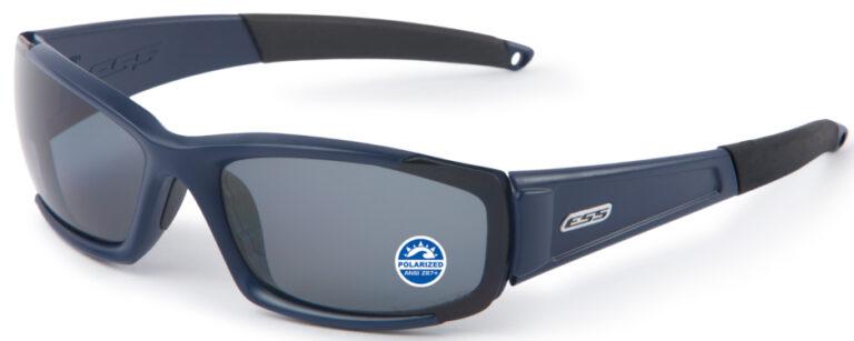 ESS CDI Ballistic Sunglasses - Heritage Matte Navy/Polarized Mirrored Gray Lenses