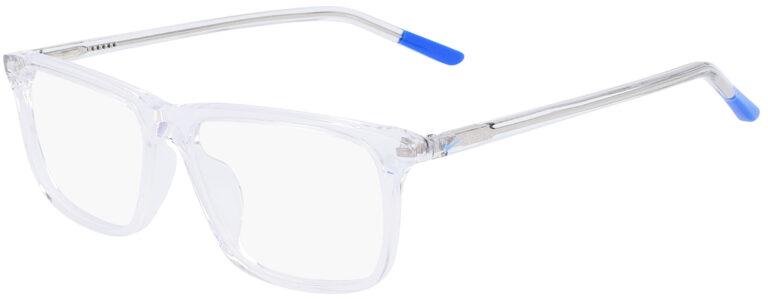 Nike 5540 Prescription Glasses in Clear/Racer Blue NI-5541-974