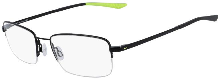 Nike 4306 004 Black Frame Black Lens Angled Side Left