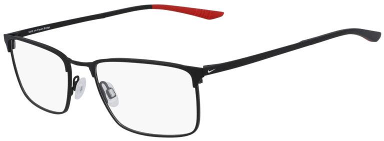 Nike 4307 007 Satin Black Frame Satin Black Lens Angled Side Left