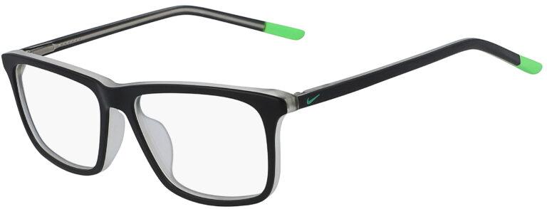 Nike 5541 012 Matte Black Electric Green Frame Matte Black Electric Green Lens Angled Side Left