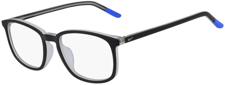 Nike 5542 016 Black Racer Blue Frame Black Racer Blue Lens Angled Side Left