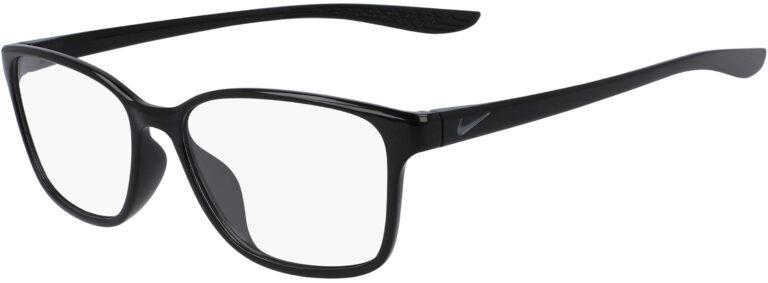 Nike 7027 003 Black Frame Black Lens Angled Side Left