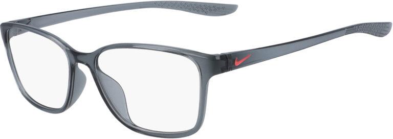 Nike 7027 036 Dark Grey Frame Dark Grey Lens Angled Side Left