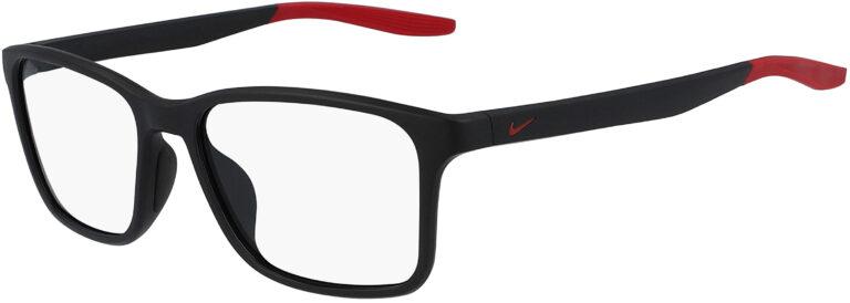 Nike 7117 006 Matte Black Gym Red Frame Matte Black Gym Red Lens Angled Side Left