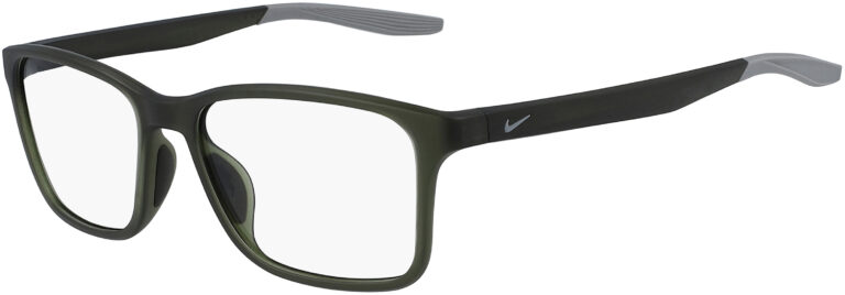 Nike 7117 305 Matte Sequoia Wolf Grey Frame Matte Sequoia Wolf Grey Lens Angled Side Left