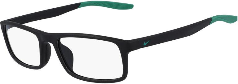 Nike 7119 Glasses - Matte Black/Lucid Green