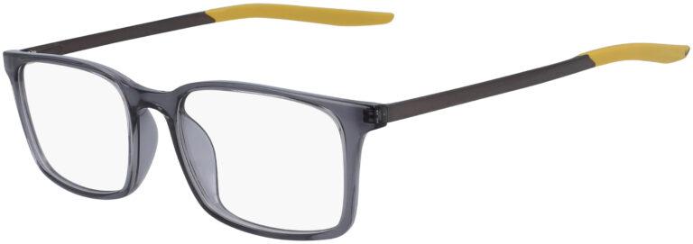 Nike 7282 037 Dark Grey Saffron Quartz Frame Dark Grey Saffron Quartz Lens Angled Side Left