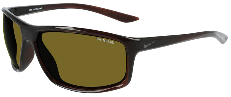 Nike Adrenaline in Basalt Brown Frame with Terrain Tint Lens Angled to the Left Side