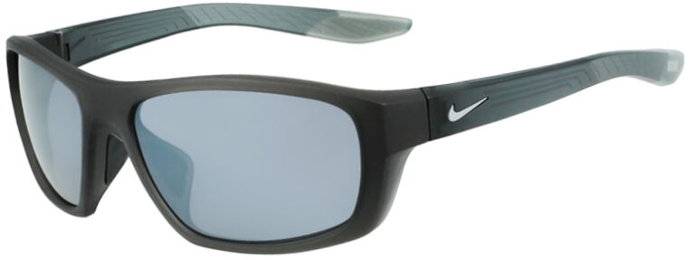 Nike Brazen Boost Matte Anthracite Gray Frame with Silver Flash Lens