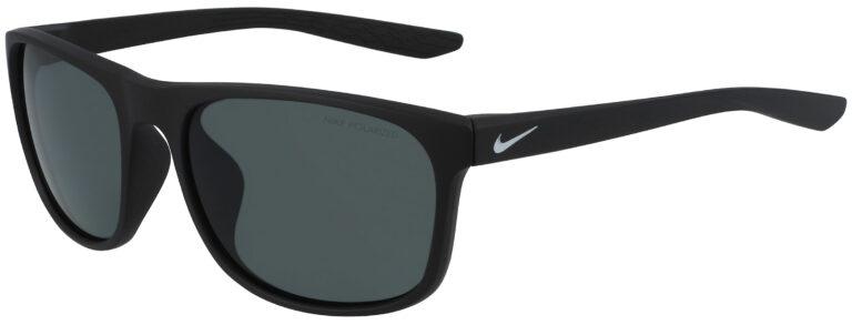 Nike Endure Sunglasses in Matte Black Frame with Polarized Grey Lenses, NI-CW4647-010