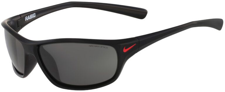 Nike Rabid Sunglasses in Black and Red Frame with Gray Lens, NI-EV0603-001