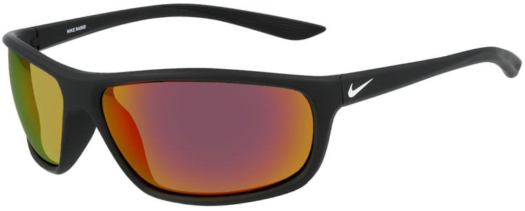 Nike Rabid Sunglasses in Matte Black Frame with Grey Infrared Mirror Lens, NI-EV1110-016