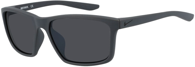 Nike Valiant Sunglasses in Matte Anthracite Frame with Dark Gray Lens, Angled to the Left Side, NI-CW4645-060