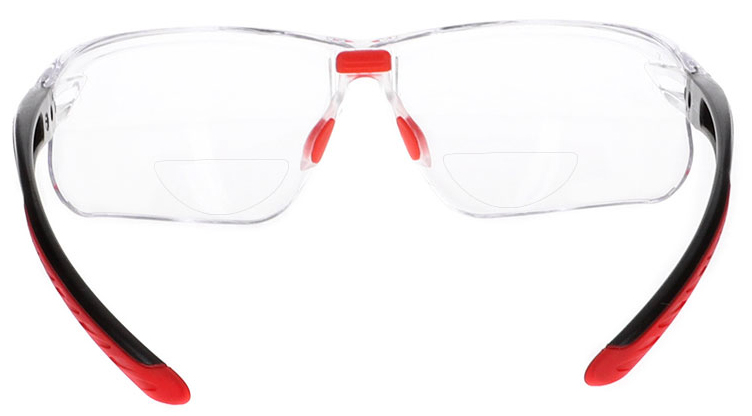Bolle IRI-S Bifocal Safety Glasses in Black Frame with Clear Lens, Angled to the Rear, BO-IRI-S