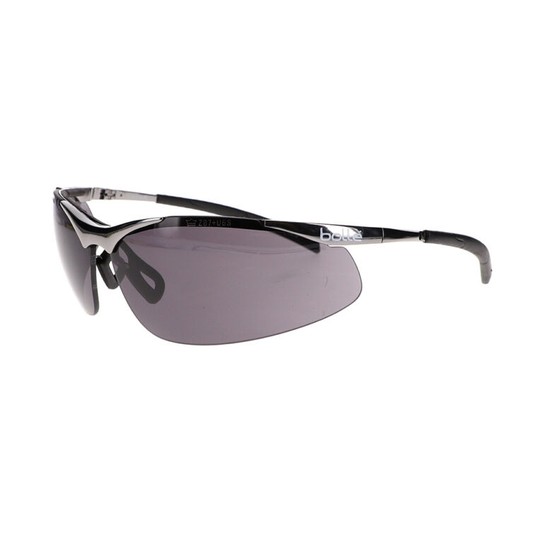 Bolle Contour Metal Smoke Safety Glasses BO-CONTOURMETAL-40050