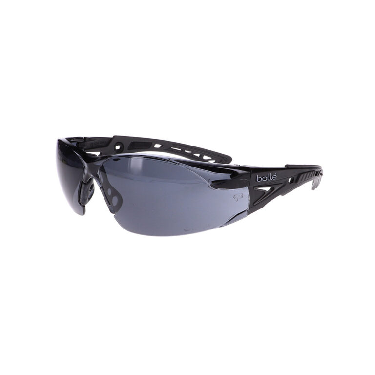 Bolle Rush+ Black/Grey Safety Glasses Smoke Lens BO-RUSH+-40208