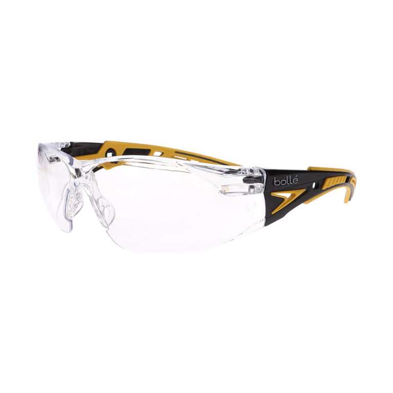 Bolle Rush+ Yellow/Black Clear Safety Glasses BO-RUSH+-40243