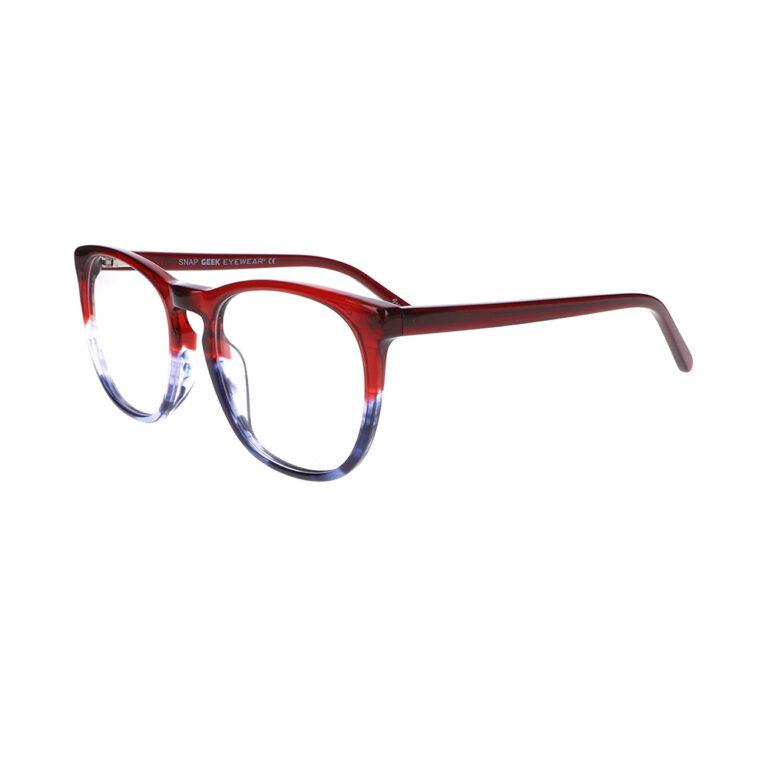 Geek Snap Prescription Glasses in Garnet Blue LBI-GK-SNAP-GBL