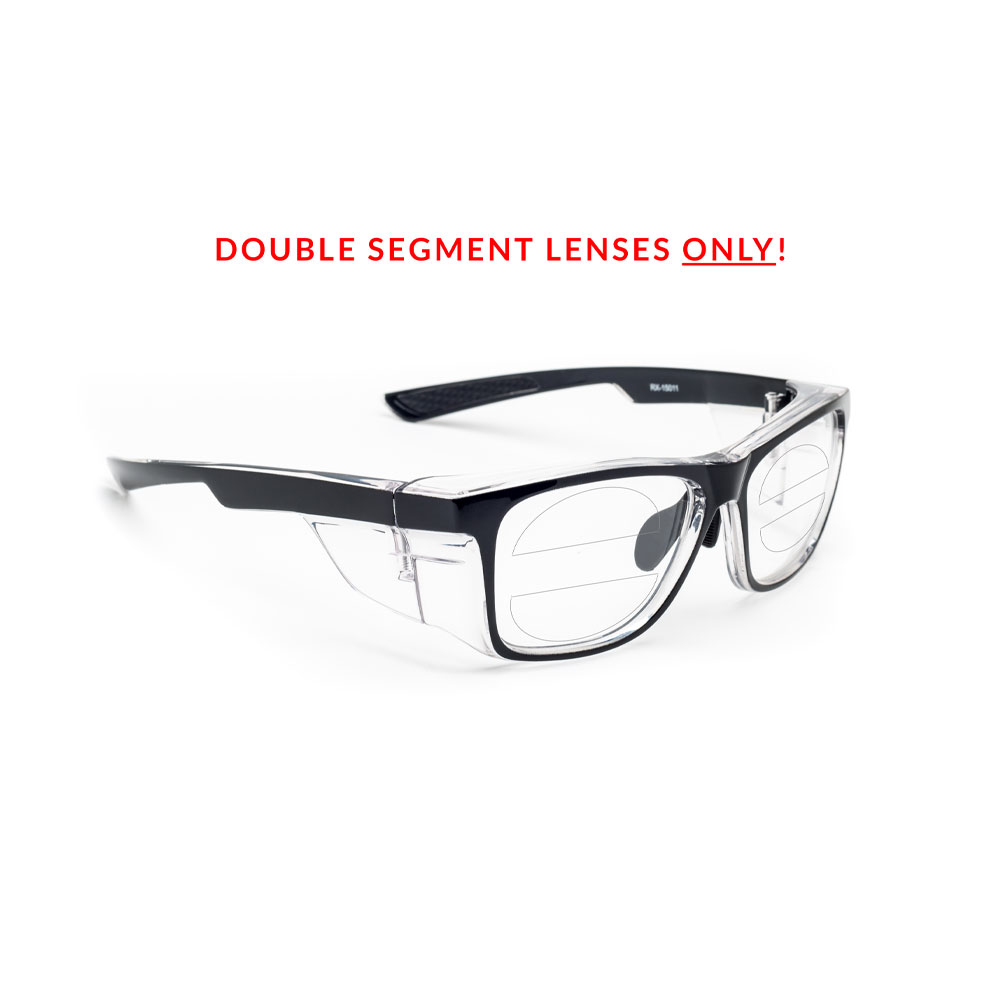 Rx 15011 Double Segment Safety Glasses Prescription Safety Glasses