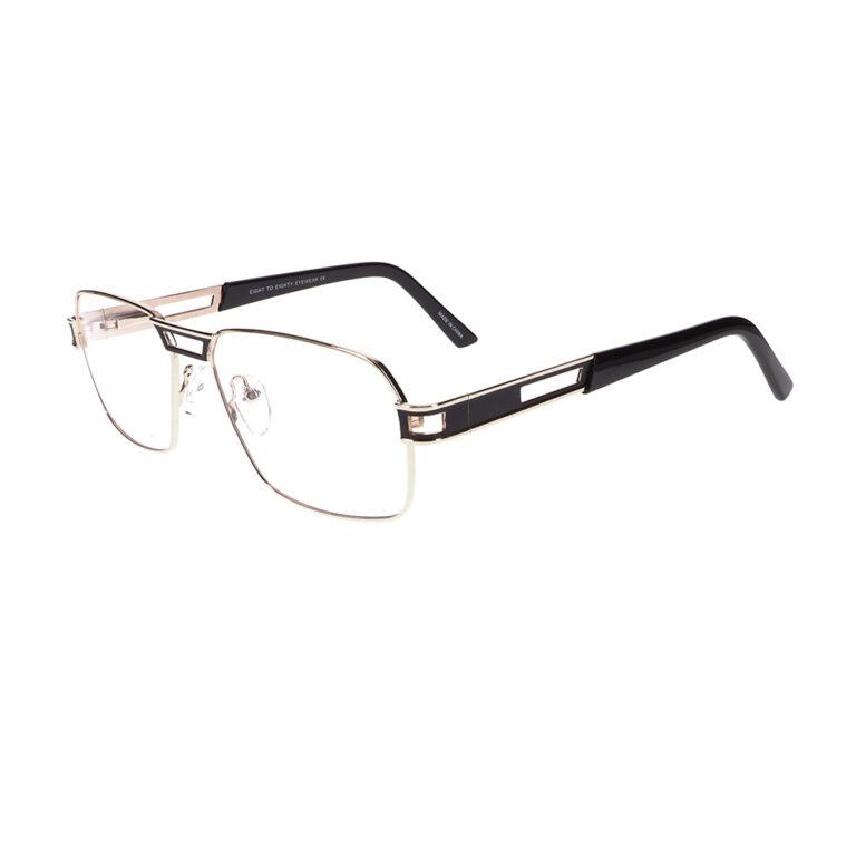 Eight to Eighty Twan Gold/Black Eyeglasses EETE-TWAN-GBK
